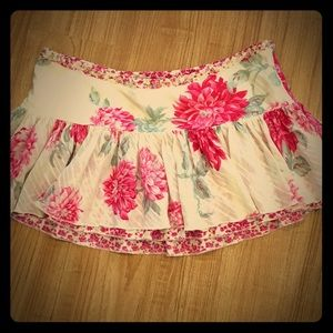 Abercrombie Pink and White Floral Layer Skirt